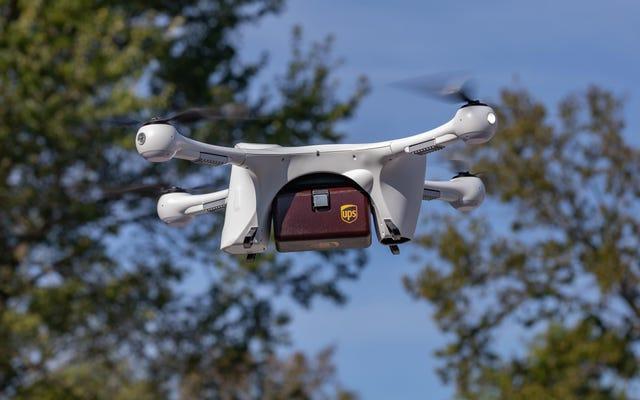 UPS получает одобрение FAA на запуск первой в Америке авиалинии, доставляющей дроны