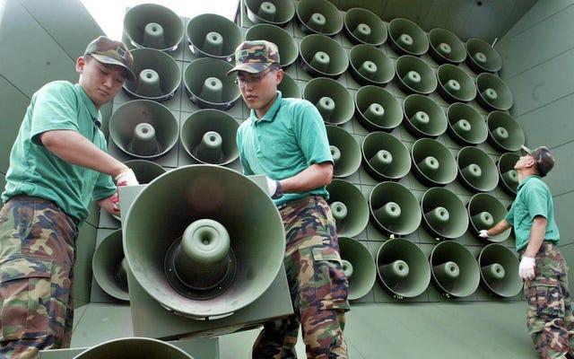 ソウルは、宣伝やk-pop音楽で北朝鮮を攻撃するために使用したスピーカーをオフにします