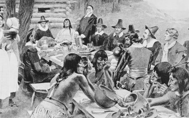 Gli storici dicono che il primo giorno del Ringraziamento non è stata una festa del cazzo totale insegnata nelle scuole