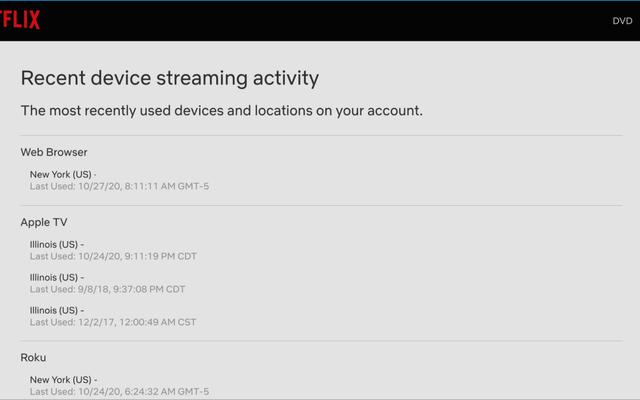 Scopri chi sta sbagliando il tuo account Netflix controllando il suo accesso recente