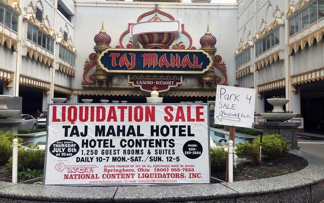 Un viaje a los restos del casino Empire Empire de Atlantic City de Donald Trump, ahora a la venta