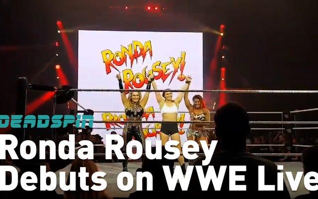 रोंडा राउजी ने तीन विरोधियों का मजाक उड़ाया, WWE हाउस शो डेब्यू में उनका आर्मबार उपयोग किया