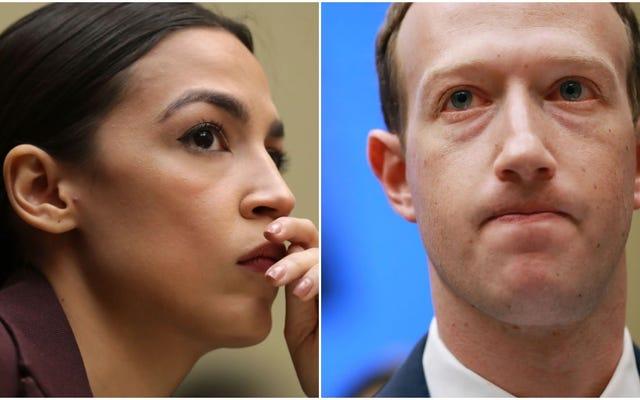 Здесь становится жарко: AOC обсуждает Марка Цукерберга о том, разрешит ли Facebook лживую рекламу черным избирателям
