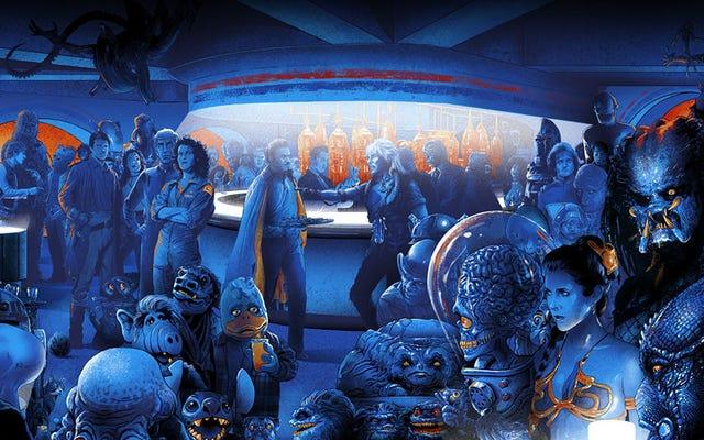 Czy potrafisz nazwać każdego obcego w tej wszechogarniającej kantynie Scifi?