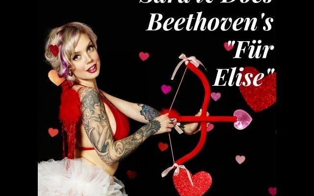 Mozart Boob Twerker passe à Beethoven pour la Saint-Valentin