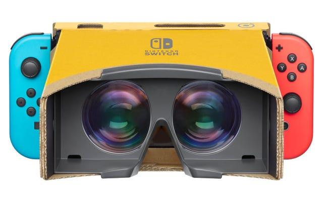 Sekarang Anda dapat memainkan Super Mario Odyssey dan Zelda: Breath of the Wild dalam realitas virtual dengan Nintendo Labo VR