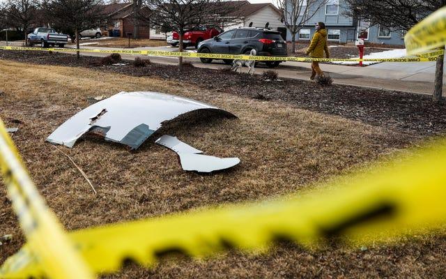 飛行機のエンジンが爆発した後、コロラド郊外に降り注いだ破片をチェックしてください