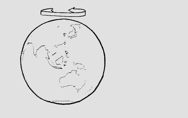 地球が東に向いているのに、なぜ西に飛ぶほうが速いのではないのですか?