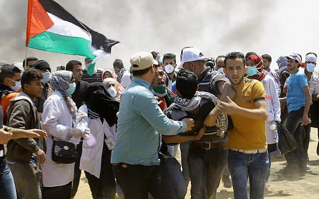 """Trump mówi, że """"naszą największą nadzieją jest pokój"""", gdy płonie Gaza"""