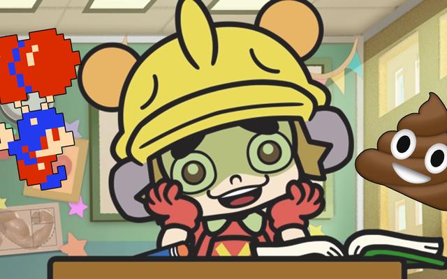 Las dos cosas favoritas de WarioWare son Classic Nintendo, Poop