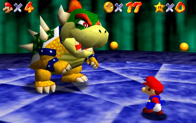 Man Beats การต่อสู้ Bowser ครั้งแรกของ Mario 64 โดยไม่ต้องใช้ Control Stick