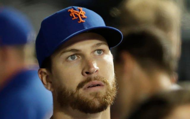 """Các Mets Scrapped MRI của Jacob deGrom trên khuỷu tay """"sủa"""" của anh ấy vì anh ấy cảm thấy tốt sau khi chơi trò bắt"""