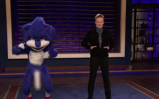 Conan menampar penggemar Sonic yang terlalu khawatir dengan wang landak yang memantul secara agresif