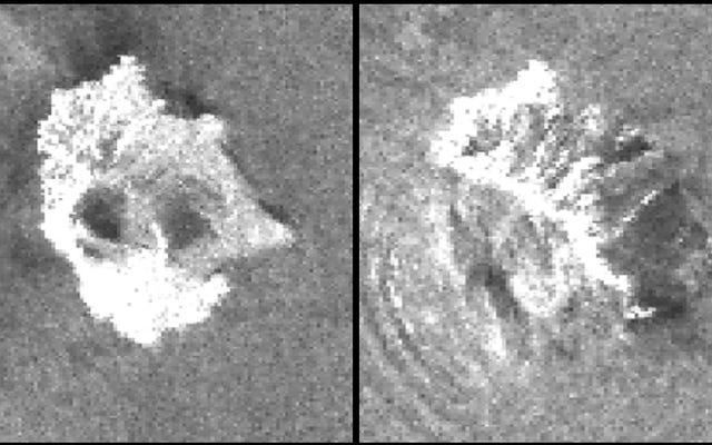 Citra satelit menunjukkan runtuhnya gunung berapi di Indonesia yang menyebabkan tsunami yang menewaskan ratusan orang