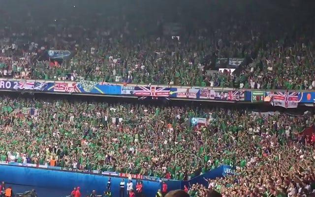 北アイルランドのファンはドイツに踏みにじられたにもかかわらず素晴らしい時間を過ごしました