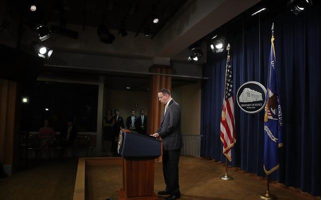 副検事総長のロッド・ローゼンスタインは辞任する予定であるか、解雇されています。いずれにせよ、彼は去った:レポート[更新]