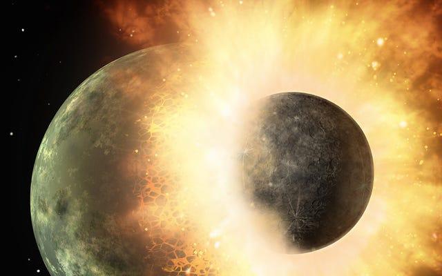 お茶が存在した:地球は双子の惑星と衝突して月を形成した