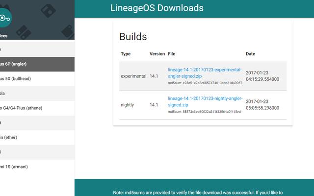 CyanogenModの後継であるLineageOSの最初のビルドが公開されました
