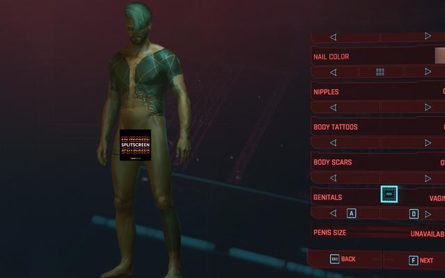 ตัวเลือกการปรับแต่งอวัยวะเพศของ Cyberpunk 2077 ปล่อยให้เป็นที่ต้องการมากมาย