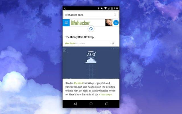 Chrome for Androidは、すべてのWebサイトにプルトゥリフレッシュをもたらします