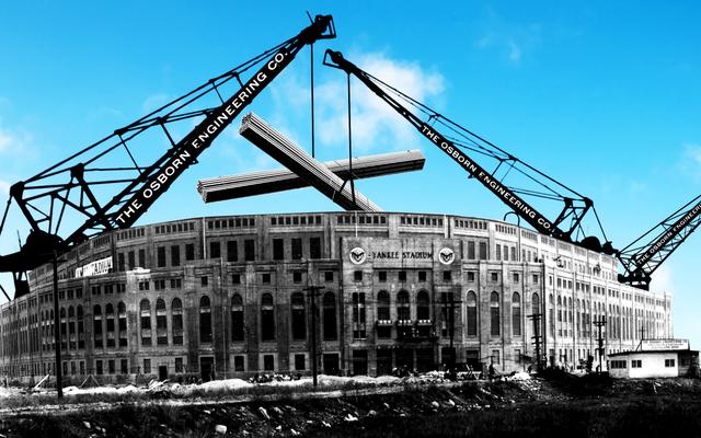 Jak zbudowano baseball z betonu i stali