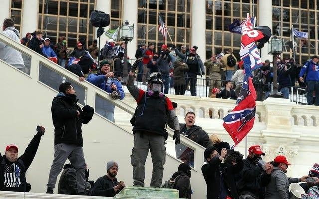 テロリストが国会議事堂を乗っ取り、アスリートは彼らが黒人だったらどうなるのだろうと考えています