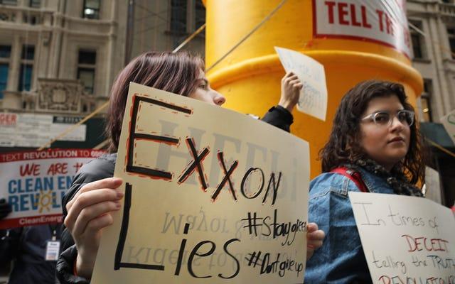 ニューヨーク州は気候変動について株主に嘘をついたとしてエクソンを訴えている