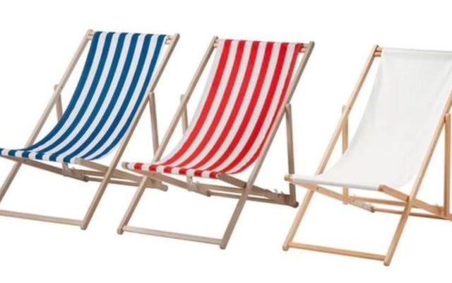 เก้าอี้ชายหาดของ Ikea เหล่านี้ช่วยให้ผู้คนใช้งานได้อย่างราบรื่น