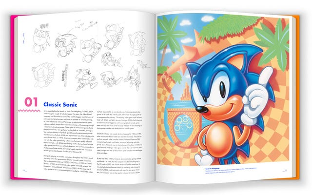 Необычный журнальный столик Sonic The Hedgehog's Art Book