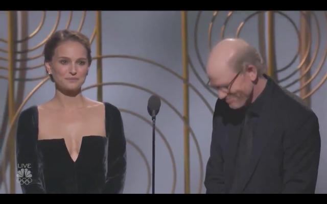 Пожалуйста, наслаждайтесь Натали Портман, заставляющей всех мужчин-кандидатов на лучшую режиссуру чувствовать себя неловко.