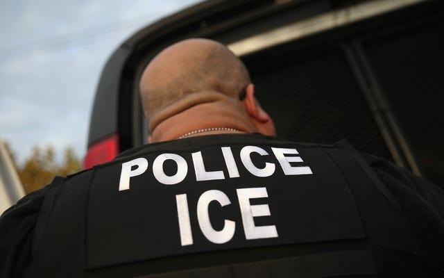 Большой взрослый сын в роли агента ICE, чтобы произвести впечатление на друзей и семью