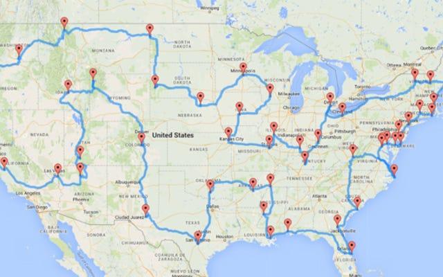 これらのマップを使用して、すべての米国の州のトップ都市またはランドマークにアクセスしてください