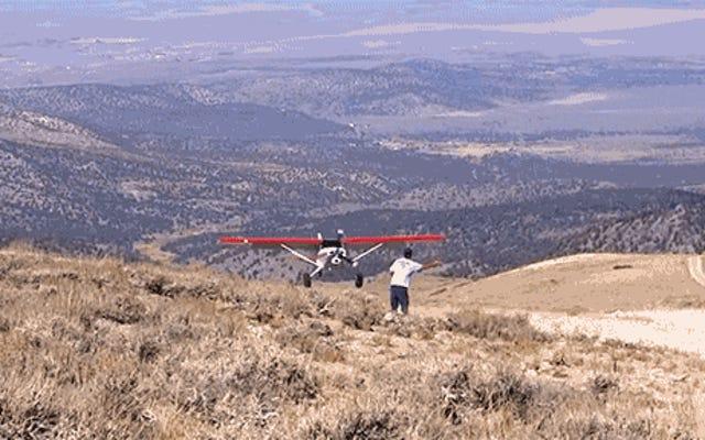 バックカントリーでの飛行はプライマルスティックとラダー航空です