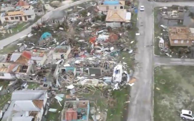 首相によると、バーブーダはイルマの通過後に「瓦礫になり」、「実質的に居住不可能」になった。