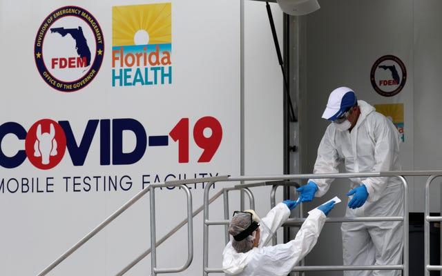 รายงานหน่วยงาน Coronavirus ที่ยังไม่ได้เผยแพร่แสดงให้เห็น 18 รัฐอยู่ใน 'โซนแดง'