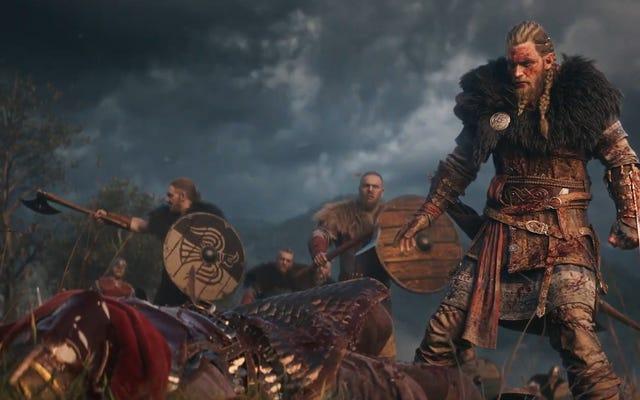 Assassin's Creed Valhalla na konsolach starej i nowej generacji, z wyborem męskiego lub żeńskiego bohatera