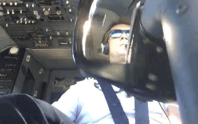「このタイプの着陸のために私は給料を稼ぎます」:キャビンからの横風を伴うボーイング737の着陸