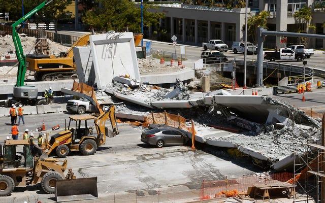 フロリダの歩道橋が悪い数学の結果を崩壊させ、巨大な亀裂を無視する:連邦政府