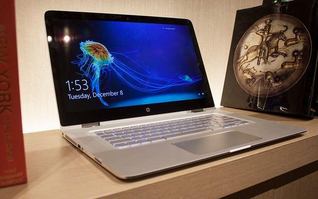 HP 15-इंच स्पेक्टर x360 के साथ बड़ा हो जाता है