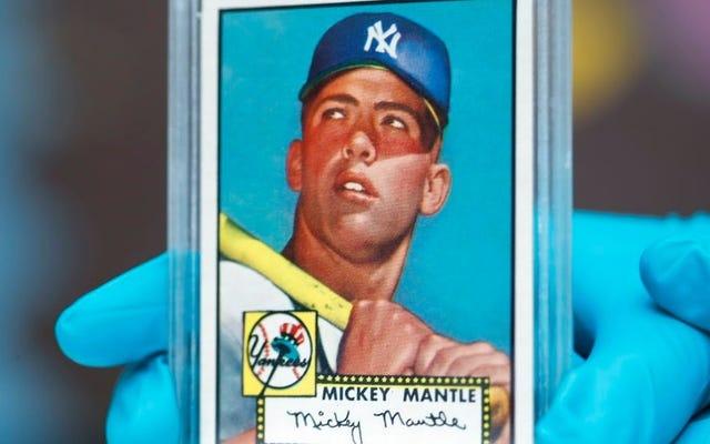1952年のマントルトップスカードは520万ドルで販売