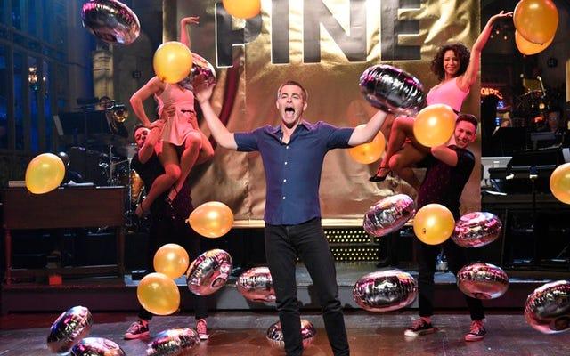 すべて歌い、すべて踊るクリス・パインは、あふれんばかりに面白いSNLを固定します