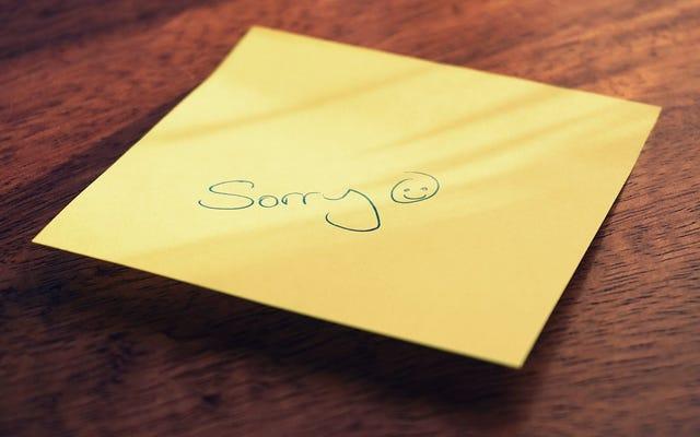 いつも「ごめんなさい」と言う代わりにこれをしなさい