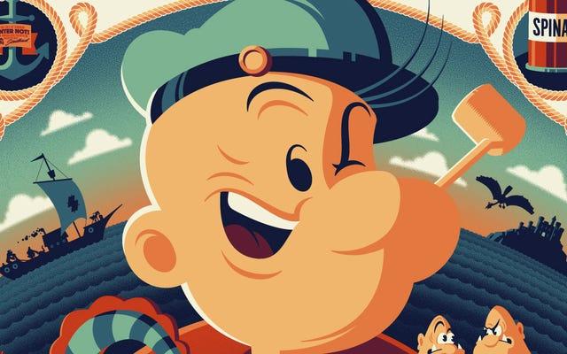 Poster Popeye Baru yang Penuh Warna dan Energik Pasti Makan Bayamnya