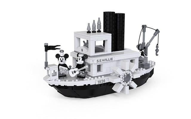Steamboat Willie Tribute di Lego è in bianco e nero e perfetto
