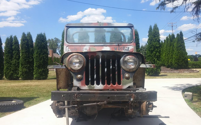 Machen Sie jetzt einen Spaziergang um meinen Beat-To-Hell 1948 Willys Jeep Live