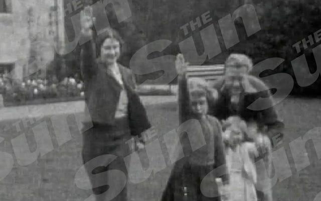 7歳のエリザベス女王のナチス式敬礼のビデオは王室のシットショーです