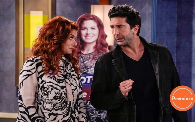 Même l'anti-Ross de David Schwimmer ne peut pas sauver la première de la saison de Will & Grace