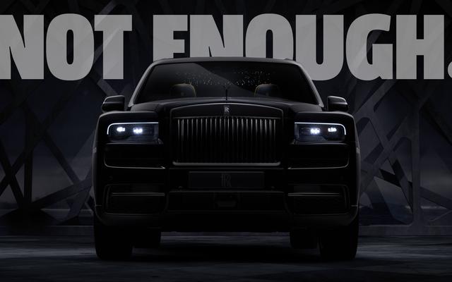 Je trouve que le badge noir Rolls-Royce Cullinan est complètement incapable de rencontrer mon goût raffiné