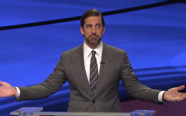 O que é, 'Aaron Rodgers está surpreso que você cheirou este Jeopardy! pergunta?'