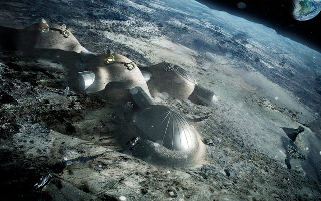 चंद्र उपनिवेशवादी चंद्रमा की धूल और धूप से ईंटें बना सकते हैं